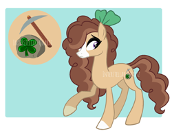 Size: 1676x1280 | Tagged: safe, artist:interstellar-quartz, oc, oc:clover luckystone, earth pony, pony, female, offspring, parent:marble pie, parent:trouble shoes, parents:marbleshoes, solo