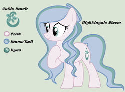 Size: 2843x2109 | Tagged: safe, artist:lominicinfinity, oc, oc:nightingale bloom, earth pony, pony, female, mare, reference sheet, simple background, solo