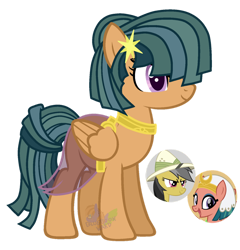 Size: 1024x1066 | Tagged: safe, artist:pure-blue-heart, pegasus, pony, female, magical lesbian spawn, mare, offspring, parent:daring do, parent:somnambula, simple background, solo, transparent background
