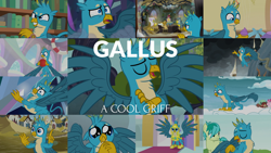 Size: 1978x1113 | Tagged: safe, edit, edited screencap, editor:quoterific, screencap, bifröst, gabby, gallus, gilda, grampa gruff, grizzle, sandbar, yona, bird, eagle, earth pony, griffon, hippogriff, owl, pegasus, pony, yak, a matter of principals, marks for effort, school daze, school raze, the ending of the end, the hearth's warming club, the last problem, uprooted, what lies beneath, armor, crying, cupcake, food, friendship student, male, puppy dog eyes, royal guard, royal guard gallus, single tear, stallion, tears of pain