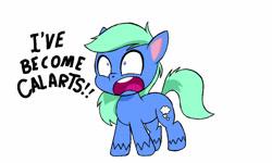 Size: 1280x768 | Tagged: safe, artist:dashingjack, oc, oc only, oc:brainstorm, earth pony, pony, my little pony: pony life, pony life, bean mouth, calarts, cute, male, open mouth, shrunken pupils, solo, stallion, yelling