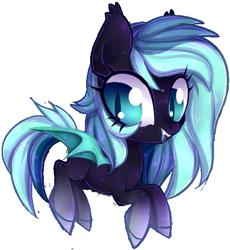 Size: 577x627 | Tagged: safe, artist:misspinka, oc, oc:spectrum, bat pony, pony, chibi, female, mare, simple background, solo, transparent background