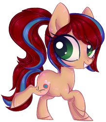 Size: 538x618 | Tagged: safe, artist:misspinka, oc, earth pony, pony, chibi, female, mare, simple background, solo, transparent background