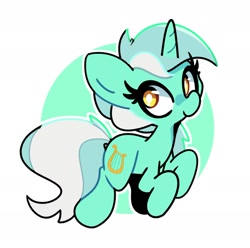 Size: 1800x1789 | Tagged: safe, artist:kindakismet, lyra heartstrings, pony, unicorn, abstract background, circle background, cute, female, lyrabetes, mare, solo