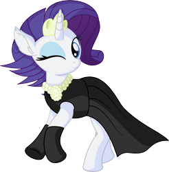 Size: 6525x6621 | Tagged: safe, artist:cyanlightning, rarity, pony, unicorn, the gift of the maud pie, .svg available, absurd resolution, alternate hairstyle, audrey hepburn, black dress, breakfast at tiffany's, clothes, cute, dress, elegant, evening gloves, female, gloves, gown, holly golightly, jewelry, jewels, little black dress, long gloves, mare, necklace, pearl necklace, raribetes, simple background, smiling, solo, svg, tiara, transparent background, vector