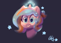 Size: 1400x1000 | Tagged: safe, artist:colorfulcolor233, oc, oc only, oc:oofy colorful, pony, unicorn, bust, simple background, solo