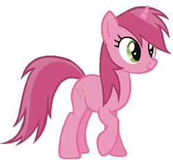 Size: 613x567 | Tagged: safe, alternate version, artist:abealy2, ruby pinch, pony, unicorn, cute, female, looking at you, mare, older, older ruby pinch, pinchybetes, raised hoof, simple background, solo, white background