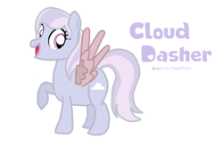 Size: 1088x720 | Tagged: safe, oc, oc:cloud dasher, pegasus, pony, artificial wings, augmented, error, female, happy, mare, metal wing, simple background, solo, transparent background, wings