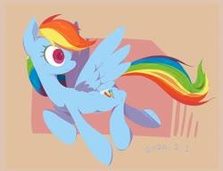 Size: 2580x1977 | Tagged: safe, artist:noupu, rainbow dash, pegasus, pony, cute, female, looking back, mare, rainbow dash day, solo