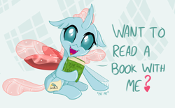 Size: 1738x1080 | Tagged: safe, artist:sintakhra, ocellus, changedling, changeling, tumblr:studentsix, book, bronybait, cute, cute little fangs, diaocelles, fake cutie mark, fangs, female, happy, heart, looking at you, ocellus being ocellus, open mouth, patting, post-it, sintakhra is trying to murder us, solo
