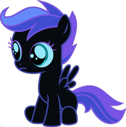 Size: 1920x1927 | Tagged: safe, edit, vector edit, nightmare moon, scootaloo, pegasus, ponyar fusion, female, filly, fusion, recolor, simple background, solo, transparent background, vector