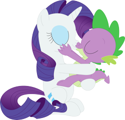 Size: 3521x3375 | Tagged: safe, artist:porygon2z, rarity, spike, female, kissing, male, shipping, simple background, sparity, straight, transparent background