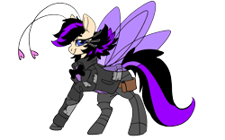 Size: 1920x1200 | Tagged: safe, artist:brainiac, oc, oc only, oc:shotglass, breezie, fallout equestria, clothes, dnd, dungeons and dragons, female, pathfinder, pen and paper rpg, rpg, simple background, solo, spy, transparent background, tuxedo