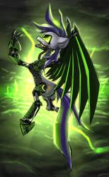 Size: 1280x2081 | Tagged: safe, artist:shido-tara, oc, oc only, oc:dawn, cyborg, pegasus, pony, fallout equestria, fallout equestria: project horizons, cybernetic pony, fanfic art, female, hooves, mare, solo, wings