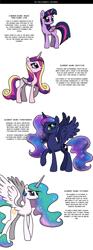 Size: 1500x4029 | Tagged: safe, artist:nimaru, princess cadance, princess celestia, princess luna, twilight sparkle, pony, alicorn tetrarchy, twilight sparkle (alicorn)