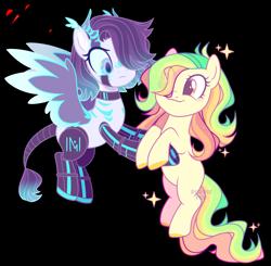 Size: 3109x3048 | Tagged: safe, artist:darlyjay, artist:rerorir, oc, oc only, oc:darlien jenter, pony, robot, robot pony, female, holding a pony, mare, simple background, transparent background