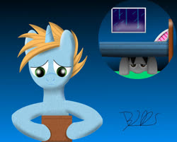 Size: 998x801 | Tagged: safe, oc, oc only, oc:harmony star, alicorn, alicorn oc, bed, box, rain, window