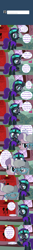 Size: 800x6000 | Tagged: safe, artist:niggerfaggot, diamond tiara, silver spoon, oc, oc only, oc:nyx, alicorn, earth pony, pony, ask nyx now, glasses, headband, ignoring, nervous, tumblr, tumblr comic