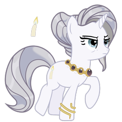 Size: 850x850 | Tagged: safe, evenlight, pony, unicorn, tails of equestria, the festival of lights, .svg available, bracelet, female, frown, glare, jewelry, lidded eyes, mare, necklace, raised hoof, raised leg, simple background, solo, svg, transparent background, umberfoal, vector