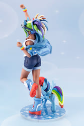 Size: 667x1000 | Tagged: safe, kotobukiya, rainbow dash, human, pony, equestria girls, clothes, denim shorts, figure, goggles, human coloration, human ponidox, humanized, jean shorts, kotobukiya rainbow dash, moe, photo, self ponidox, shorts, tomboy