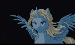 Size: 969x582 | Tagged: safe, artist:jay-kuro, alicorn, pony, alicornified, elsa, female, frozen (movie), frozen 2, mare, ponified, race swap, scene interpretation