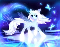 Size: 1600x1269 | Tagged: safe, artist:avrameow, alicorn, pony, alicornified, artificial wings, augmented, elsa, female, frozen (movie), frozen 2, magic, magic wings, mare, ponified, race swap, wings