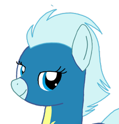 Size: 838x877 | Tagged: safe, oc, oc only, oc:windy breeze, pegasus, pony, bedroom eyes, blue eyes, bust, clothes, error, female, grin, head, looking at you, mare, simple background, smiling, solo, tail, transparent background, uniform, wonderbolts, wonderbolts uniform