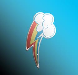 Size: 1600x1544   Tagged: safe, artist:sontrowa, rainbow dash, blue background, gel sticker, simple background, sticker