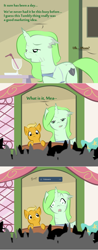 Size: 900x2304   Tagged: safe, artist:askmerriweatherauthor, oc, oc:meadow lark (ask merriweather), oc:merriweather, pony, unicorn, ask merriweather, colt, female, male, mare, mother and child, mother and son, scar