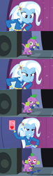 Size: 972x3208 | Tagged: safe, spike, trixie, equestria girls, rainbow rocks, comic, female, holiday, male, shipping, spixie, straight, valentine's day, vector