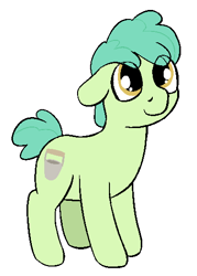 Size: 378x528 | Tagged: safe, artist:heretichesh, oc, oc only, oc:parsley pail, earth pony, pony, colt, cute, cutie mark, floppy ears, male, ocbetes, simple background, white background