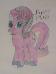 Size: 720x960 | Tagged: safe, artist:xpstar214, oc, oc:agent fluffy, not starlight glimmer, recolor, traditional art