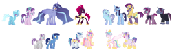 Size: 3950x1150 | Tagged: safe, artist:xanthicsolarian, night light, princess cadance, princess flurry heart, shining armor, starlight glimmer, tempest shadow, trixie, twilight sparkle, twilight velvet, oc, female, lesbian, magical lesbian spawn, male, nightvelvet, offspring, parent:princess cadance, parent:shining armor, parent:starlight glimmer, parent:tempest shadow, parent:trixie, parent:twilight sparkle, parents:shiningcadance, parents:startrix, parents:tempestglimmer, parents:tempestlight, parents:tempestrix, parents:twistarlight, parents:twixie, polyamory, shiningcadance, shipping, simple background, startrix, straight, tempestglimmer, tempestlight, tempestrix, transparent background, twistarlight, twixie, twixstar