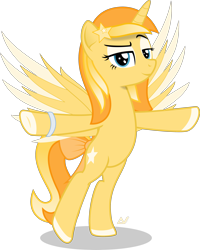 Size: 2350x2939 | Tagged: safe, artist:arifproject, oc, oc:favourite, derpibooru, bracelet, derpibooru ponified, jewelry, meta, ponified, simple background, solo, spread wings, standing, t pose, transparent background, wings