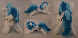Size: 1280x626 | Tagged: safe, artist:bastler, dj pon-3, vinyl scratch, pony, unicorn, irl, photo, plushie, sleeping