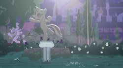 Size: 1438x806 | Tagged: safe, artist:brutalweather studio, starlight glimmer, catsuit, disguise, statue, the cutie remark prequel, youtube link