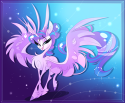 Size: 2862x2355   Tagged: safe, artist:marbola, princess flurry heart, alicorn, pony, female, horn, horn jewelry, jewelry, mare, older, older flurry heart, solo, unshorn fetlocks, wings
