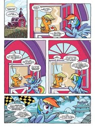 Size: 768x1024 | Tagged: safe, artist:tonyfleecs, idw, applejack, rainbow dash, spoiler:comic, spoiler:comic87, preview