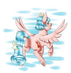 Size: 865x898 | Tagged: safe, artist:fixielle, cozy glow, pegasus, pony, butt, cozy glutes, cutie mark, female, filly, flying, foal, grin, lidded eyes, looking back, plot, rear view, simple background, smiling, solo, spread wings, transparent background, wings