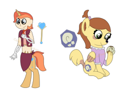 Size: 2048x1536 | Tagged: safe, artist:colorcodetheartist, oc, oc:butterscotch, oc:sceptre, hybrid, satyr, undead, crossover, magical lesbian spawn, markings, offspring, parent:fluttershy, parent:isabelle, parent:papyrus (undertale), parent:trixie, parents:isashy, parents:trixierus, simple background, smiling, smirk, things breeding that should not breed, transparent background