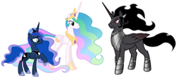 Size: 2087x916 | Tagged: artist needed, safe, king sombra, princess celestia, princess luna, alicorn, pony, alicornified, alternate universe, armor, beautiful, bedroom eyes, celestibra, celumbra, covered cutie mark, crown, cutie mark, ethereal mane, female, flirting, friendship, good king sombra, handsome, hearts and hooves day, hidden cutie mark, holiday, hoof shoes, horn, implied celestibra, implied celumbra, implied lumbra, implied polyamory, implied shipping, implied threesome, jewelry, king sombra gets all the mares, large wings, long horn, looking at each other, lucky bastard, lumbra, majestic, male, mane, mare, ot3, peytral, polyamory, race swap, regal, regalia, romance, royal sisters, royalty, seduction, shipping, smiling, sombracorn, stallion, starry mane, straight, stupid sexy sombra, this will end in kisses, this will end in love, this will end in snu snu, trio, valentine's day, when he smiles, wings