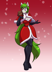Size: 2400x3300 | Tagged: safe, artist:toughset, oc, oc:glimmer, oc:hersh, oc:maple glaze, anthro, arachnid, beetle, earth pony, insect, original species, spider, clothes, crystal jumping spider, evening gloves, female, festive, gloves, long gloves, mare, socks, thigh highs
