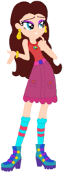 Size: 205x560 | Tagged: safe, artist:prettycelestia, artist:user15432, human, equestria girls, legend of everfree, barely eqg related, base used, boots, bracelet, camp everfree logo, camp everfree outfits, camping outfit, clothes, crossover, donkey kong series, ear piercing, earring, equestria girls style, equestria girls-ified, eyeshadow, high heel boots, high heels, jewelry, makeup, nintendo, pauline, piercing, shoes, socks, super mario bros.
