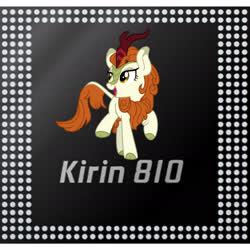 Size: 2340x2340 | Tagged: safe, autumn blaze, kirin, pony, cpu, huawei, needs more jpeg, solo
