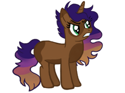 Size: 2732x2048 | Tagged: safe, artist:turnaboutart, oc, oc only, oc:gala luster, unicorn, angry, female, magical lesbian spawn, mare, offspring, parent:applejack, parent:princess luna, parents:lunajack, simple background, solo, transparent background