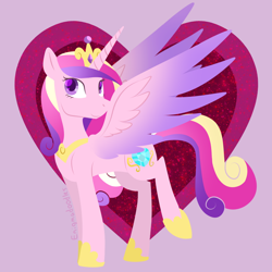 Size: 900x900   Tagged: safe, artist:enigmadoodles, princess cadance, pony, heart, solo