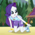 Size: 320x320   Tagged: safe, screencap, rarity, equestria girls, legend of everfree, camp everfree outfits, cropped, female, looking at something, pointing, solo