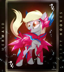 Size: 4300x4770 | Tagged: safe, artist:zidanemina, derpy hooves, pegasus, pony, absurd resolution, armor, black background, crossover, female, looking sideways, mare, raised hoof, saint seiya, simple background, solo