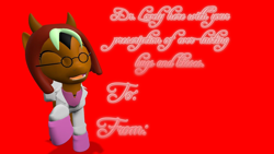 Size: 1920x1080 | Tagged: safe, artist:soad24k, oc, oc:duncan, earth pony, pony, 3d, clothes, femboy, gmod, holiday, male, outfit, text, valentine's day, valentine's day card