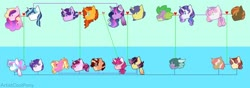 Size: 1024x360 | Tagged: safe, artist:artistcoolpony, button mash, comet tail, luster dawn, princess cadance, princess flurry heart, rarity, shining armor, spike, starlight glimmer, sunburst, sweetie belle, twilight sparkle, oc, oc:dusk, oc:harmony, oc:pitch, oc:pixel, oc:shimmering star, oc:silver lining, oc:spell bound, oc:tanzanite, alicorn, dracony, hybrid, cometlight, family, family tree, female, interspecies offspring, luster dawn is starlight's and sunburst's daughter, male, offspring, parent:button mash, parent:comet tail, parent:princess cadance, parent:rarity, parent:shining armor, parent:spike, parent:sunburst, parent:sweetie belle, parent:twilight sparkle, parents:cometlight, parents:shiningcadance, parents:sparity, parents:sweetiemash, parents:twiburst, shiningcadance, shipping, sparity, starburst, straight, sweetiemash, twilight sparkle (alicorn)